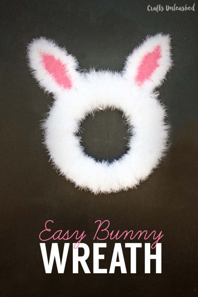 Easy Easter Bunny Wreath #easter #diy #porch #decor #decorhomeideas