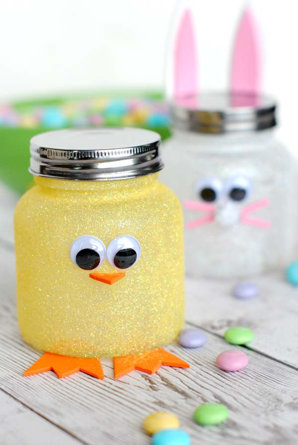 Easy Easter Candy Jars #easter #diy #dollarstore #crafts #decorhomeideas