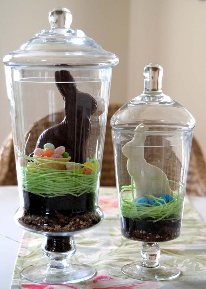 Edible Easter Terrarium #easter #diy #cheap #decor #decorhomeideas