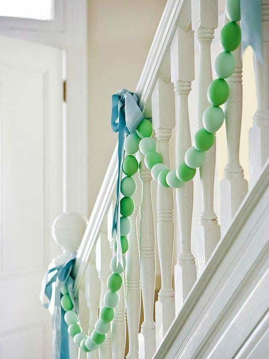 Egg Garland #easter #diy #cheap #decor #decorhomeideas