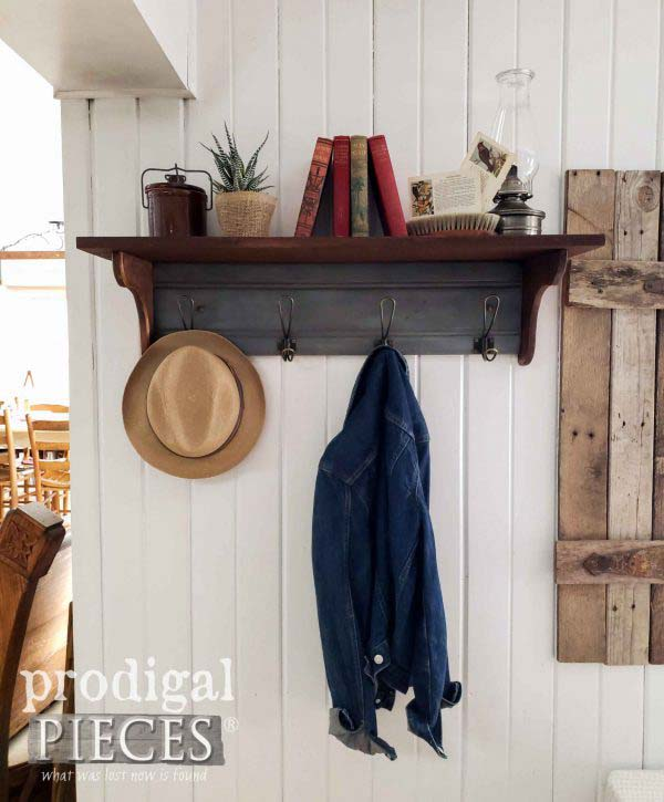 Reclaimed Coat Rack From Drawer Front #hatrack #diy #organizer #decorhomeideas