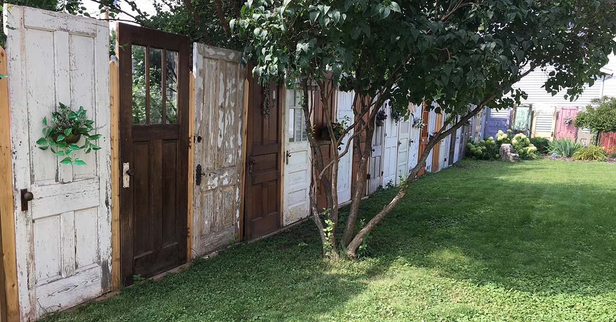 Fence Made Out Of Old Doors Fb