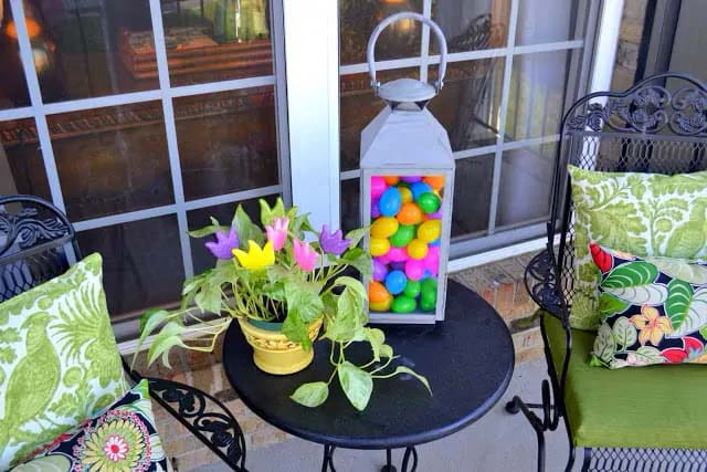 Front Porch Decked For Easter #easter #diy #porch #decor #decorhomeideas