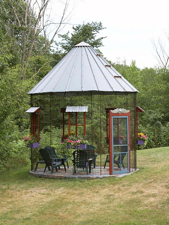 Gazebo Made Out Grain Bin