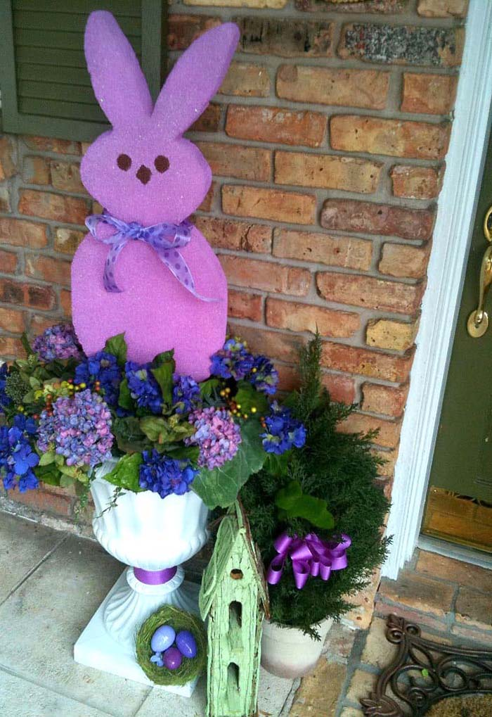 Giant Peeps #easter #diy #porch #decor #decorhomeideas