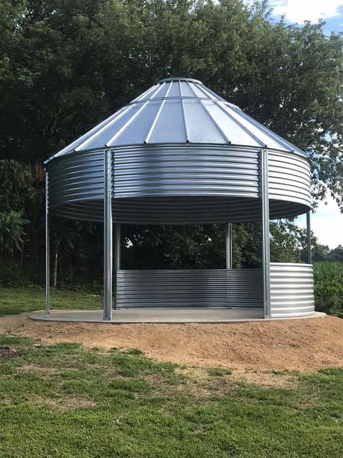 Grain Bin Gazebo Concrete Foundation