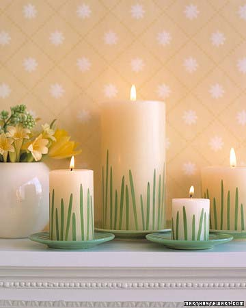 Grass Candles #easter #diy #cheap #decor #decorhomeideas