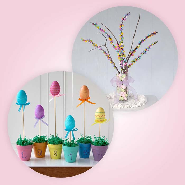 Growing Easter Eggs #easter #diy #cheap #decor #decorhomeideas