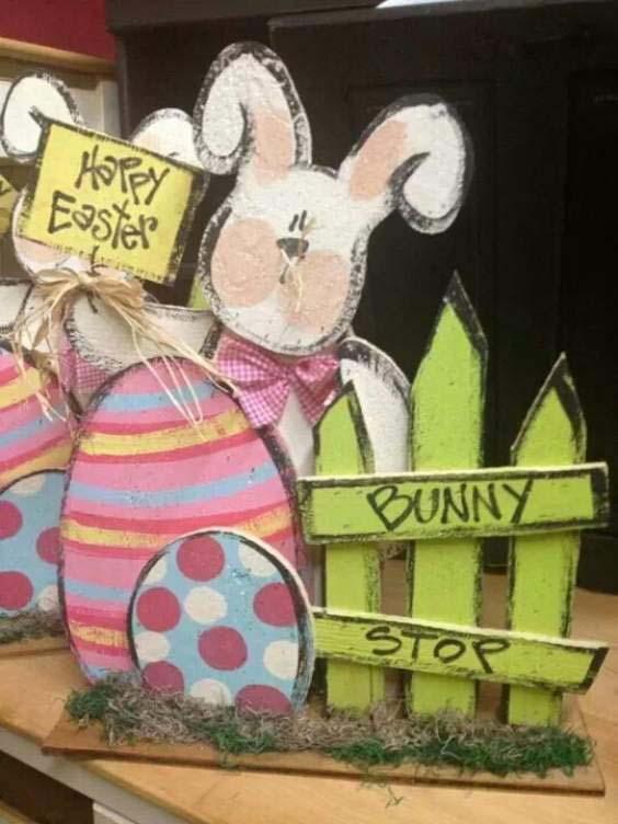 Happy Easter Signboard #easter #diy #porch #decor #decorhomeideas