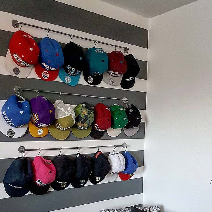 Hat Hanger Ideas #hatrack #diy #organizer #decorhomeideas