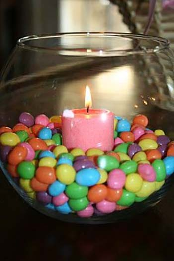 Jelly Bean Candle #easter #diy #cheap #decor #decorhomeideas
