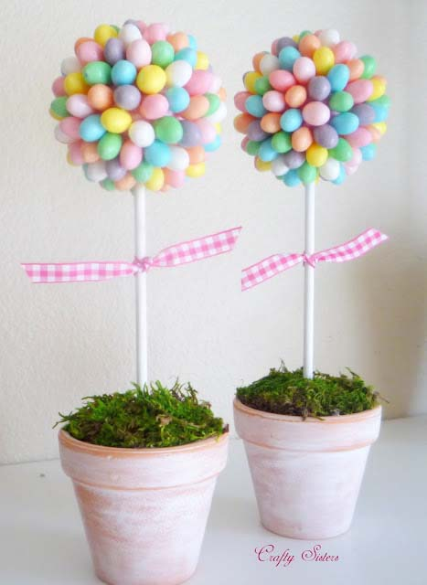Jelly Bean Topiary #easter #diy #dollarstore #crafts #decorhomeideas