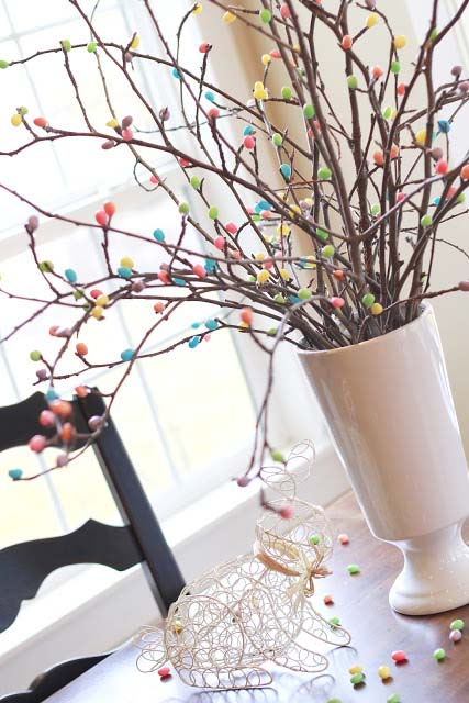 Jelly Bean Tree #easter #diy #cheap #decor #decorhomeideas
