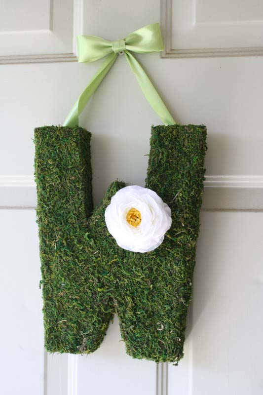 Moss Monogram #easter #diy #cheap #decor #decorhomeideas