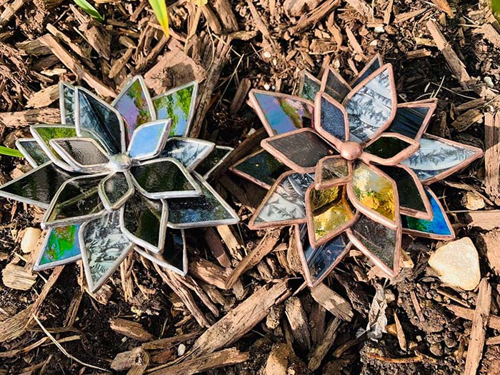 Multi Colored Stained Glass Succulents