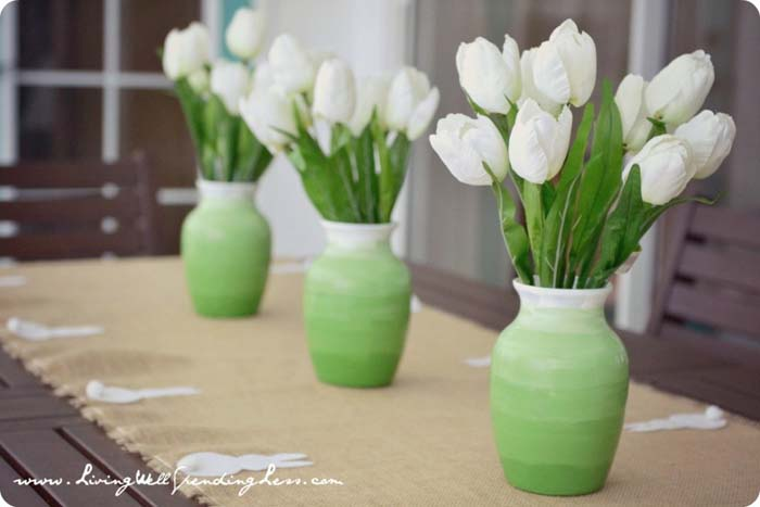 Ombre Spring Vase #easter #diy #cheap #decor #decorhomeideas