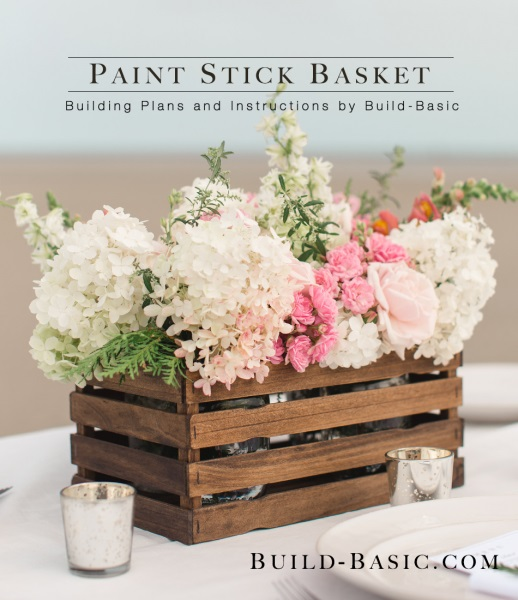 Paint Stick Basket Project Opener #easter #diy #wood #crafts #decorhomeideas