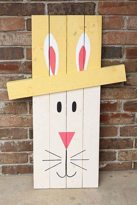 Pallet Bunny #easter #diy #porch #decor #decorhomeideas