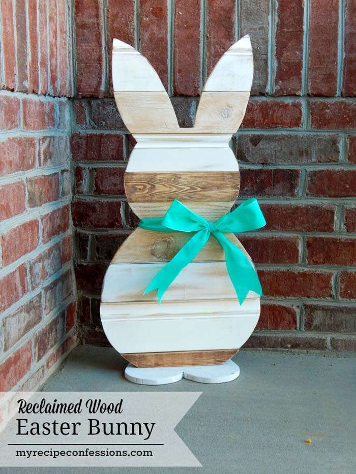 Reclaimed Wood Easter Bunny #easter #diy #porch #decor #decorhomeideas
