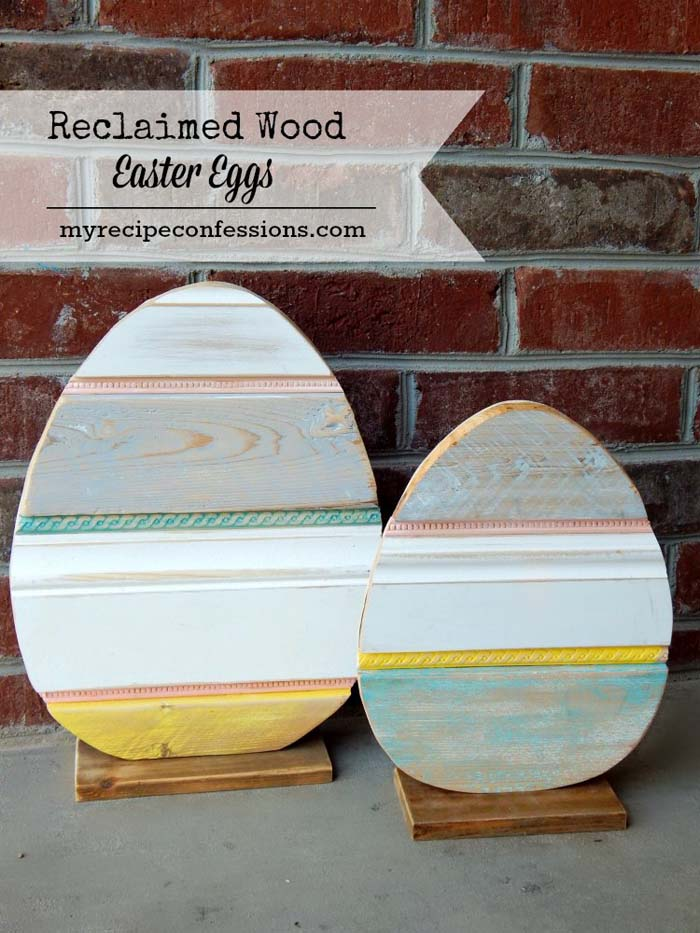 Reclaimed Wood Easter Egg #easter #diy #porch #decor #decorhomeideas