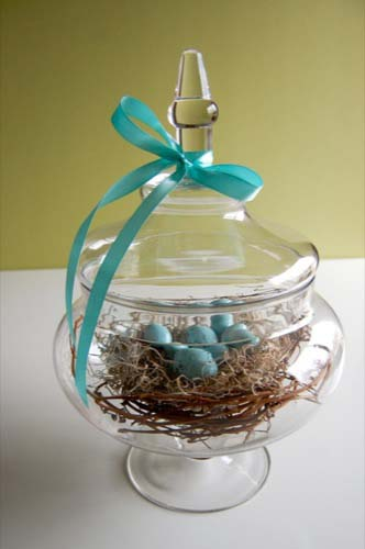 Robin Egg Nest Jar #easter #diy #cheap #decor #decorhomeideas