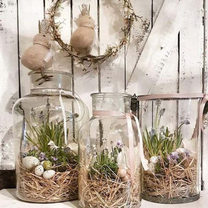 Rustic Easter Decor #easter #diy #porch #decor #decorhomeideas