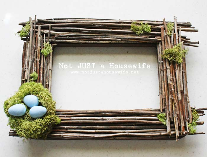 Rustic Easter Picture Frame #easter #diy #rustic #decor #decorhomeideas