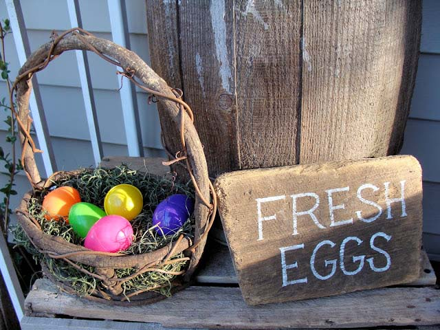 Rustic Easter Porch Decor #easter #diy #porch #decor #decorhomeideas