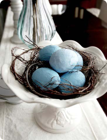 Rustic Paper Mache Easter Eggs #easter #diy #rustic #decor #decorhomeideas