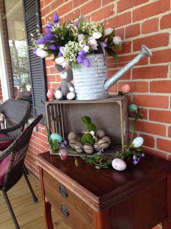 Simple Easter Porch Decor #easter #diy #porch #decor #decorhomeideas