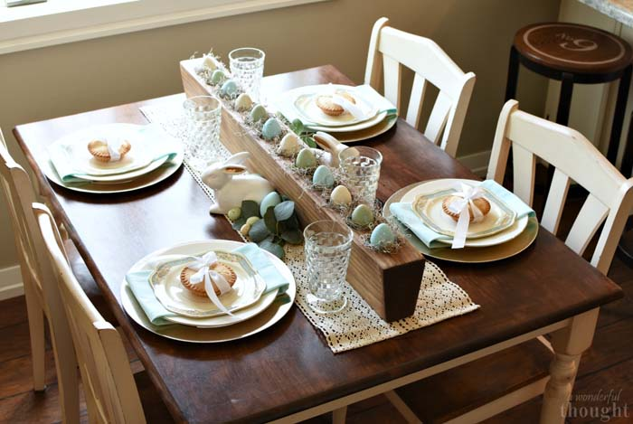Soft and Lovely Easter Tablescape #easter #diy #rustic #decor #decorhomeideas