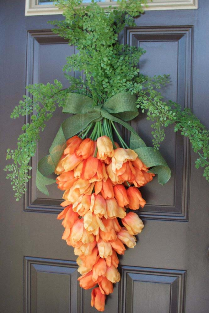 Spring Carrot Door Hanger #easter #diy #porch #decor #decorhomeideas