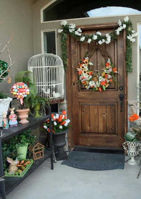 Spring Porch Decorating #easter #diy #porch #decor #decorhomeideas