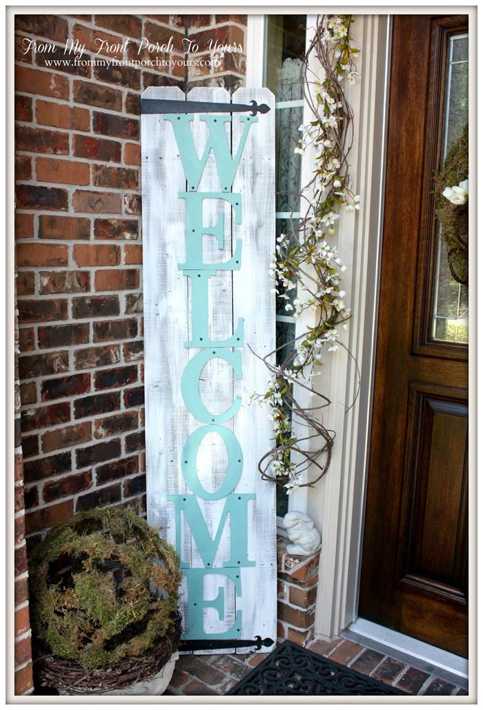 Spring Porch Sign #easter #diy #wood #crafts #decorhomeideas