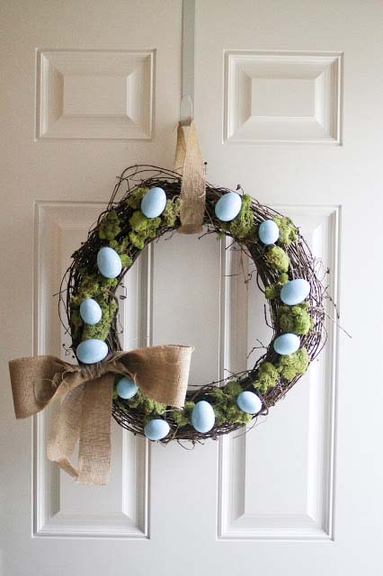 Spring Wreath #easter #diy #porch #decor #decorhomeideas