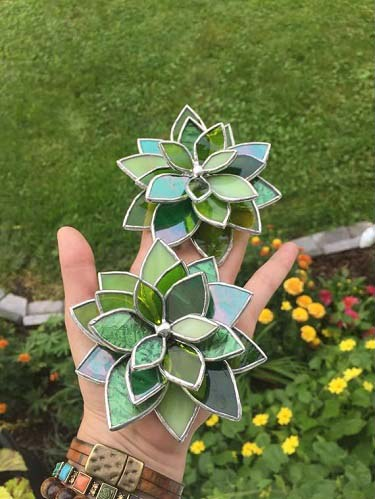 Stained Glass Succulents 2