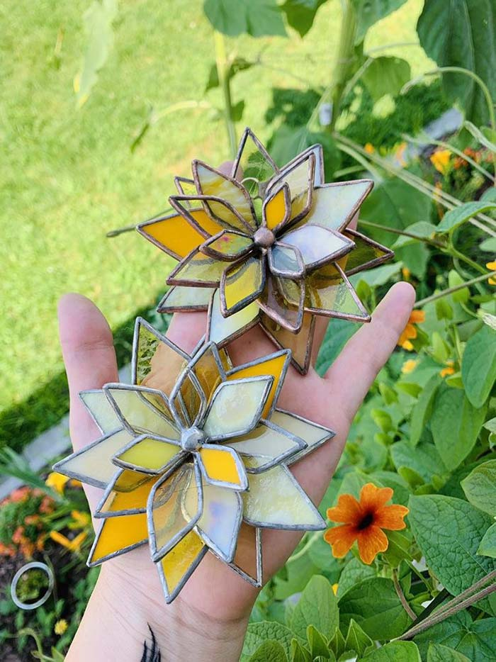 Stained Glass Succulents In Yellow