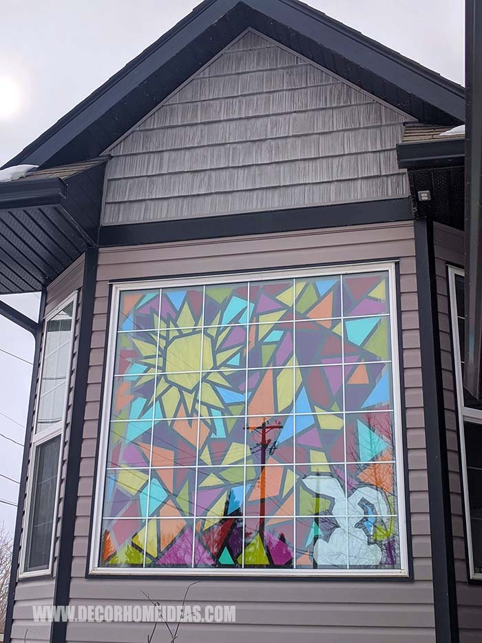 Stained Glass Windows Outside