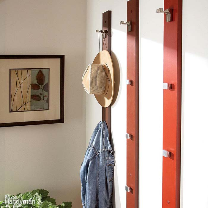 Vertical Hat Rack Plans #hatrack #diy #organizer #decorhomeideas