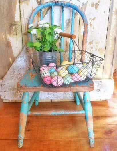Vintage Easter Eggs #easter #diy #porch #decor #decorhomeideas