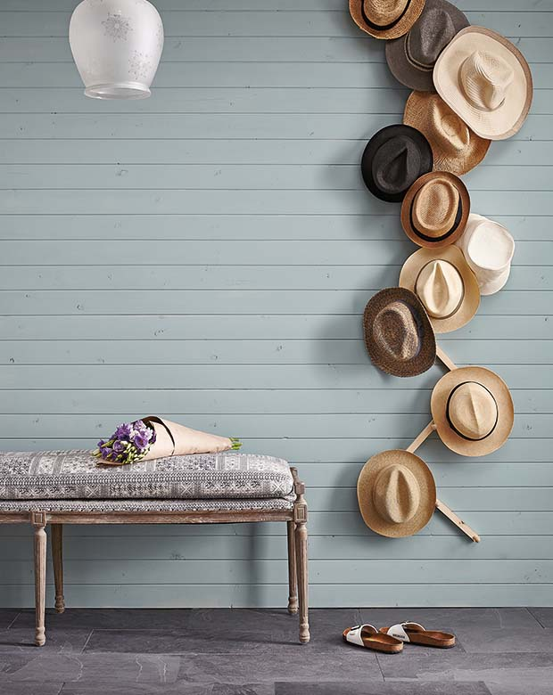 Wall-Mounted Hat Rack #hatrack #diy #organizer #decorhomeideas