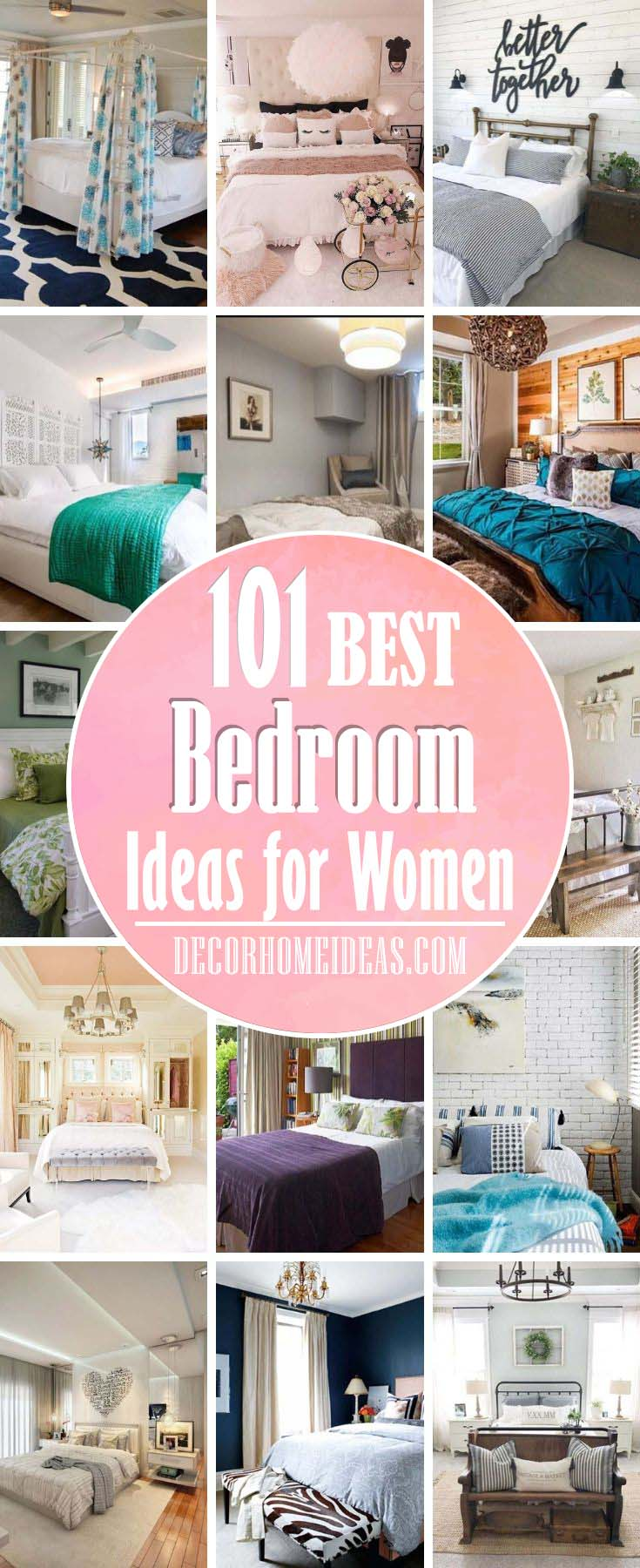Best Bedroom Ideas For Women. The most beautiful bedroom ideas for women are those with a feminine touch and strong and bold enough statements that speak for one's character and individuality. #bedroom #woman #feminine #women #decor #decorhomeideas