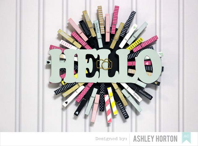 Say Hello With A Clothespin Wreath #diy #clothespin #wreath #crafts #decorhomeideas