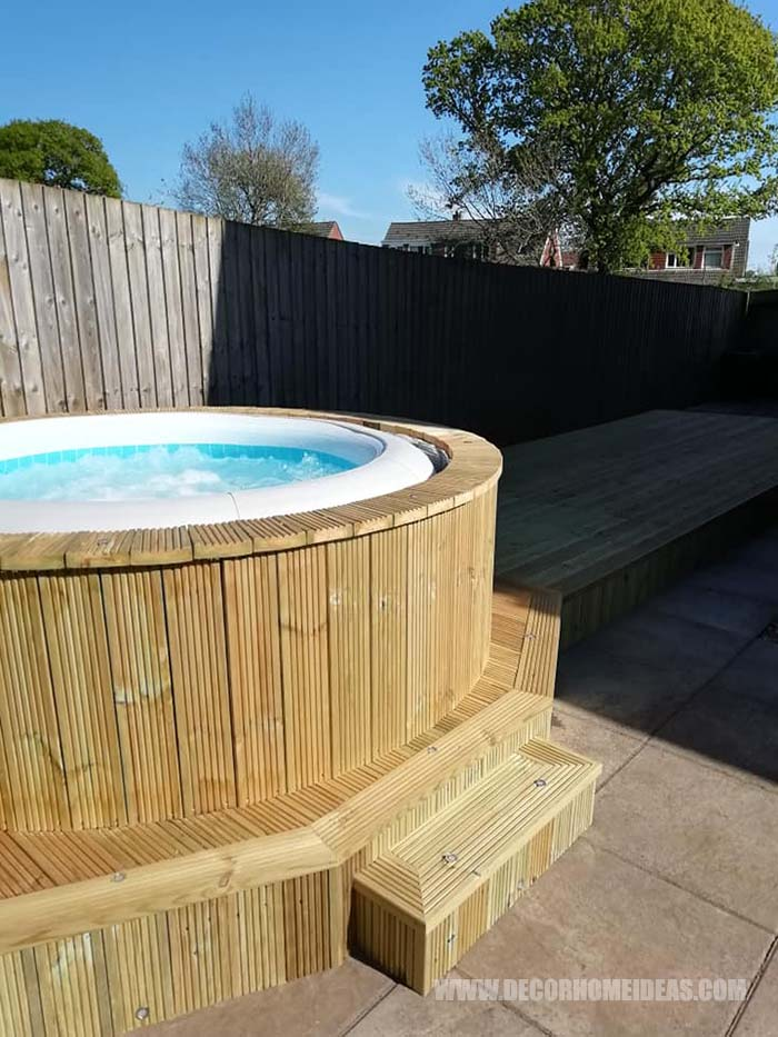 Hot Tub Surround With Deck