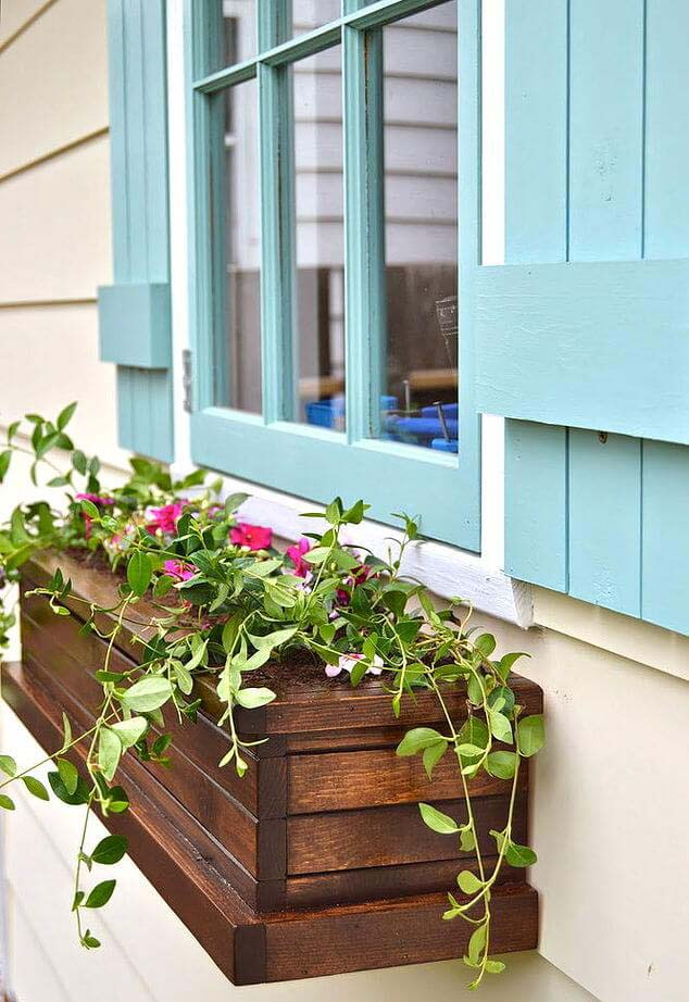 How To Build Window Wooden Box Planters #diy #planter #wood #flower #pallet #decorhomeideas