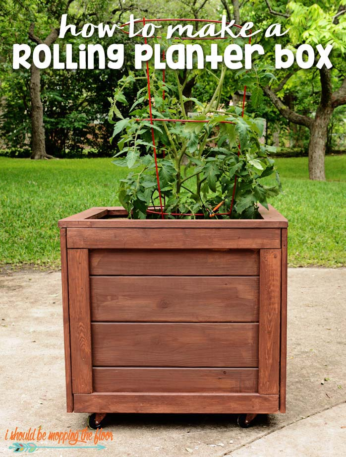 How To Make A Rolling Planter Box #diy #planter #wood #flower #pallet #decorhomeideas