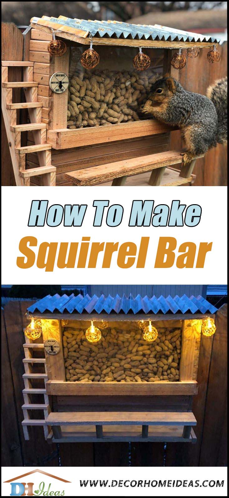How To Make Squirrel Bar. This awesome DIY project was inspired by the picnic table, but it's way more sophisticated and charming. #diy # woodwork #squirrel #bar #decorhomeideas