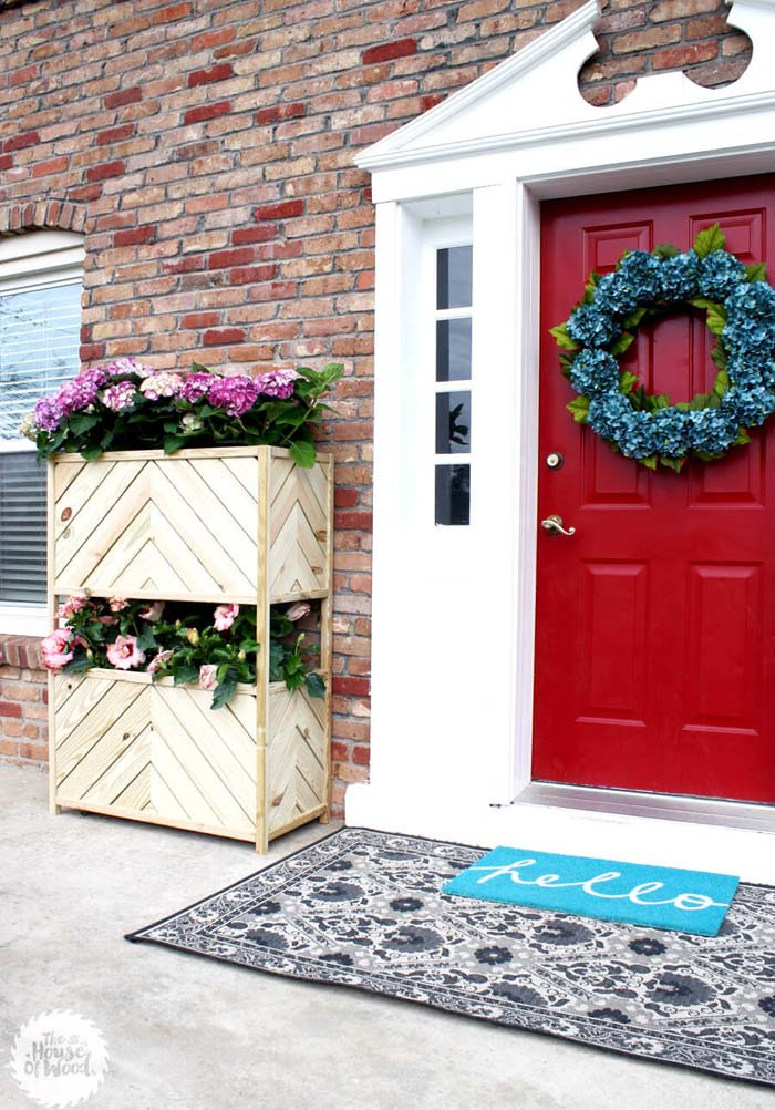 Two Tier Large Wood Planter Box #diy #planter #wood #flower #pallet #decorhomeideas