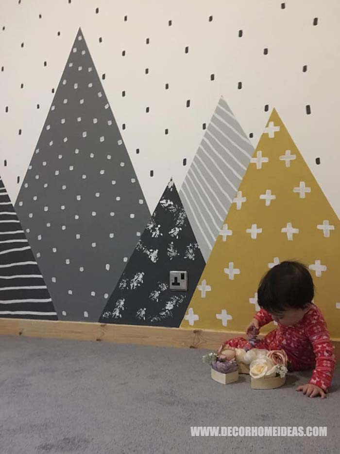 Adding Dots To The Background Of The Mountain Wall