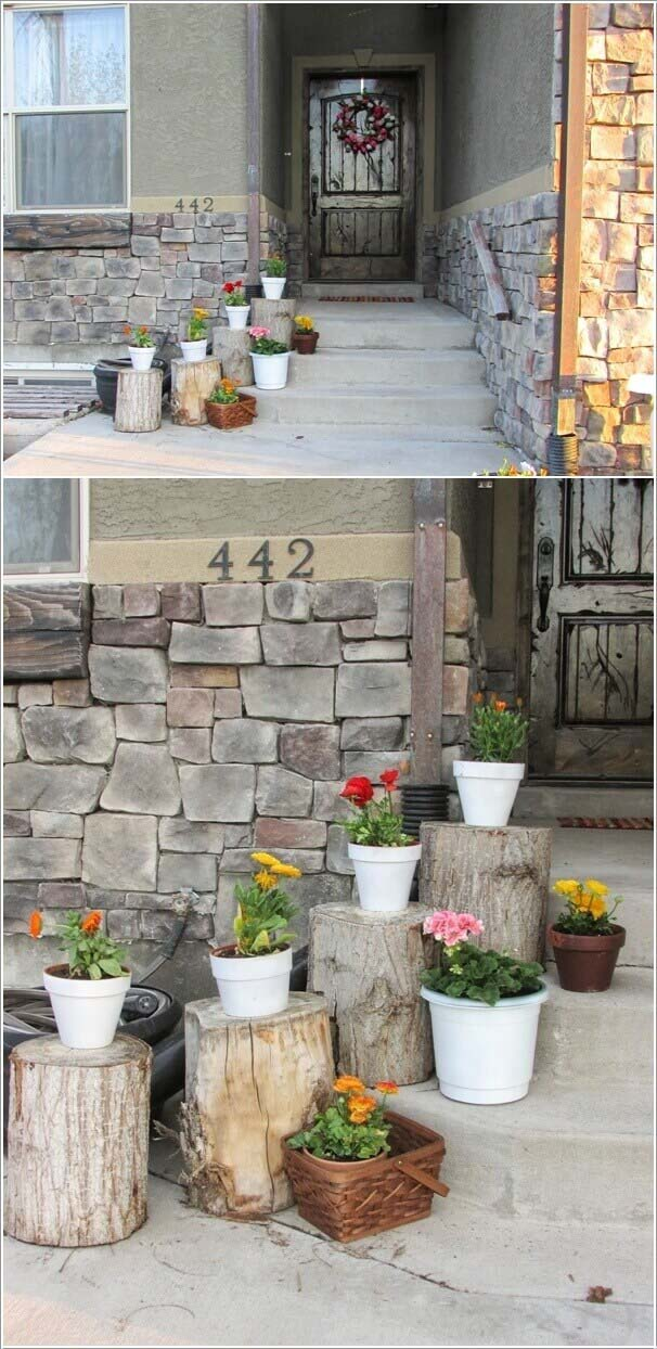 All You Need Are Stumps #diy #porch #patio #projects #colorful #decorhomeideas